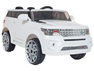 Ride on Car 12v Electric Range Sport Style Jeep with Parental Radio Control White